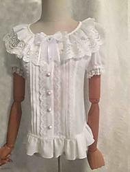lolita doce blusa branca