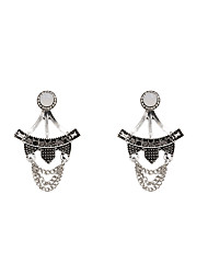 Fashion Women Vintage Rhinestone Set Front And Back Earrings(one earring two ways to wear)