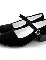 Women's Loafers & Slip-Ons Summer Closed Toe Fabric Casual Chunky Heel Others Black Others