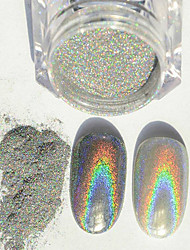 1g/Box New Rainbow Shinning Mirror Nail Glitter Powder Perfect Holographic Nails Dust Laser Holo Nails Pigment