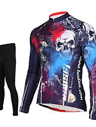TASDAN Maillot et Cuissard Long de Cyclisme Homme Manches longues VéloMaillot Collants Pantalon/Surpantalon Hauts/Tops Ensemble de