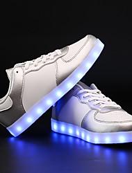 Unisexe-Extérieure / Décontracté / Sport-Noir / Rose / Blanc / Argent-Talon Plat-Confort / Nouveauté-Sneakers-Similicuir