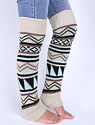 Women's Winter Knitting Bohemian Wool Pile Of Pile Of Leg Warmers