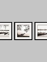 Paesaggio Tele con cornice / Set con cornice Wall Art,PVC Nero Passepartout incluso con cornice Wall Art