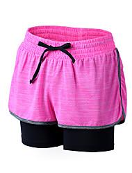 Course / Running Short baggy Femme Respirable / Séchage rapide / Compression / Confortable Polyester Course/Running Sportif® non élastique