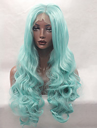 Glueless Synthetic Lace Front Wig Bule Wig Long Curly Wig Cheap Wig Top Quality