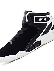 Femme-Extérieure / Décontracté / Sport-Noir / Rouge / Gris-Talon Bas-Confort-Sneakers-Cuir
