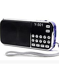 Y-501 FM Radio Speakers Portable Digital Radio Mini Elderly Music Player