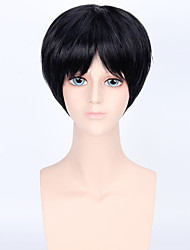 Fashion Short Wig Black Color Synthetic Cosplay African American Wigs