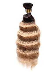 100g/pc Deep Wave 10-18Inch Color #T4/27 Ombre Brown Blonde Human Hair Weaves