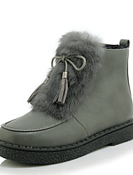 Women's Boots Winter Snow Boots / Creepers / Round Toe Dress Platform Zipper Black / White / Gray Others