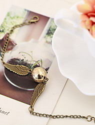 Golden Snitch Wings Bracelet Pearl Chain Bracelet Adjustable Christmas Gifts