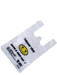 38cm * 58cm sacs sourire en plastique (50 sacs dans un seul pack)