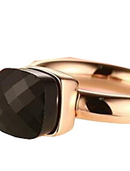 Anéis Fashion Diário / Casual Jóias Aço Inoxidável Feminino Anéis Grossos 1pç,6 / 7 / 8 Preto / Vermelho / Verde / Púrpura / Rosa