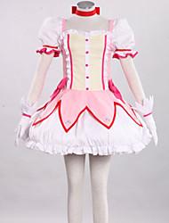 Inspirado por Mahou Shoujo Madoka Magica Madoka Kaname Animé Disfraces de cosplay Trajes Cosplay Retazos RosaFalda / Vestido / Tocados /