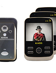 KiVOS KDB302 Wireless Visual Intercom Doorbell Three Delayed Tamper Alarm Lock Waterproof Camera