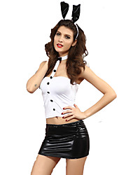 Cosplay Costumes Bunny Girls Festival/Holiday Halloween Costumes Top / Skirt / Ears Halloween / Carnival / New Year Female Polyester