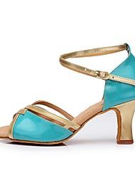 Damen-High Heels-Lässig-PU-Stöckelabsatz-Sandalen-Blau / Rosa / Lila / Oberfläche