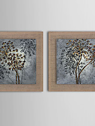 2 Panel Modern Wall Art Pictures Abstract Flower Oil Painting Hand-Painted On Linen Home Decoration With Frame