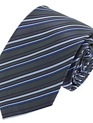 Men Casual Neck Tie Polyester Silk for Formal Business