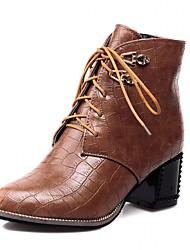 Feminino-Botas-Saltos / Botas de Cowboy / Botas de Neve / Botas Cano Curto / Bico Fino / Botas Montaria / Botas da Moda / Botas de