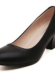 Damen-High Heels-Outddor-Gummi-StöckelabsatzSchwarz / Weiß