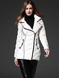 solide coatsimple duvet blanc des femmes frmz a atteint un sommet revers manches longues