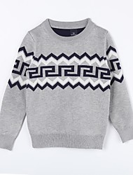 Girl's Casual/Daily Geometric Sweater & CardiganCotton Fall Gray