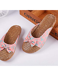 Unisex Slippers & Flip-Flops Spring / Summer / Fall Shoes & Matching Bags Bamboo Casual Flat Heel BowknotRe