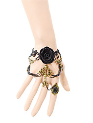 Latest Lady Fashion Sexy Lace Ring Bracelet