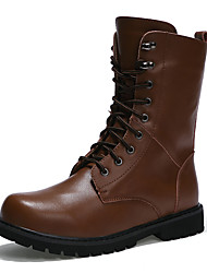 Men Genuine Leather Boots High-top Snow Boots Ankle Boots Motorcycle Boots