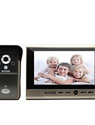 The 7 Inch Big Screen Infrared Night Vision Waterproof Anti-Theft Wireless Visual Intercom Doorbell