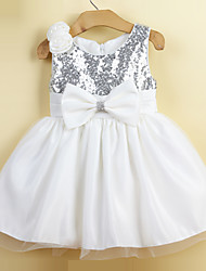 Girl's Party/Cocktail Floral DressAcrylic All Seasons White