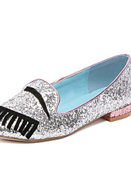 Women's Loafers & Slip-Ons Fall Comfort Glitter Casual Flat Heel Sparkling Glitter Silver Others