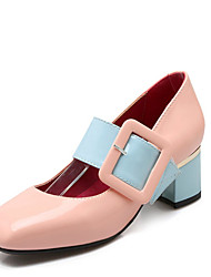 Women's Heels Fall Pointed Toe Leatherette Casual Low Heel Others Black / Pink / White Walking