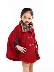 Girl's Casual/Daily Solid Sweater & CardiganWool Winter / Fall Red