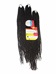 Sénégal Tresses Twist Extensions de cheveux 18Inch+20Inch+22Inch Kanekalon 81 Strands Brin 200g gramme Braids Hair
