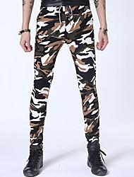 Pantalon de Sport Pour des hommes Camouflage Sport Polyester Vert / Blanc / Jaune