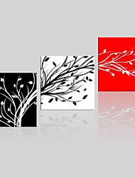 toile set / Unframed Toile Paysage / A fleurs/Botanique Modern,Trois Panneaux Toile Carré Imprimer Art Décoration murale For Décoration