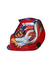 ajustável auto-escurecimento solar, capacete de soldagem adesivos atacado passou vestindo uma máscara de controle
