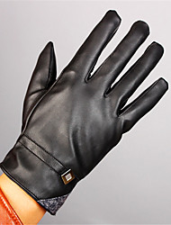 Leather Gloves With Male Cashmere Thickened Touch Cold Warm Autumn And Winter Riding