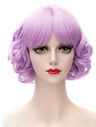 lavande reflets violets Bang soignée petit volume petit et pur et frais collège vent perruque