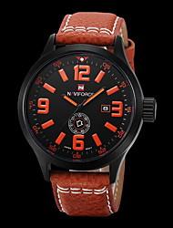 Hombre Reloj de Moda Cuarzo / Digital / Piel Banda Casual Negro Marca