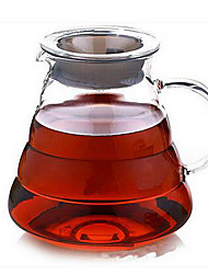 Clouds Heat-Resistant Glass Coffee Pot Coffee Pot Coffee Pot Cute Pot Hand Punch 360Ml / 600Ml