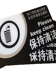 Acrylic Series Spot Identity Card Office To Keep Public Places Clean Prompt Attention To Health Signs