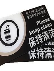acrylique tache série bureau de carte d'identité pour garder les lieux publics propres prompte attention aux signes de santé