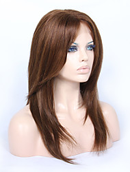 cabelo humano remy virgem braizlian 14-18inch camadas yaki rendas frente perucas glueless direitas para os afro-americanos
