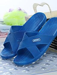 Feminino-Chinelos e flip-flopsRasteiro-Vermelho Azul-PVC-Casual