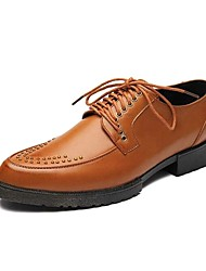 Men's Oxfords Amir New Style / Comfort Leather Casual / Low Heel Rivet / Lace-up / Black / Yellow