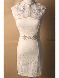 Satin Wedding Sash-Beading / Crystal Women's 59 in(150cm) Beading / Crystal